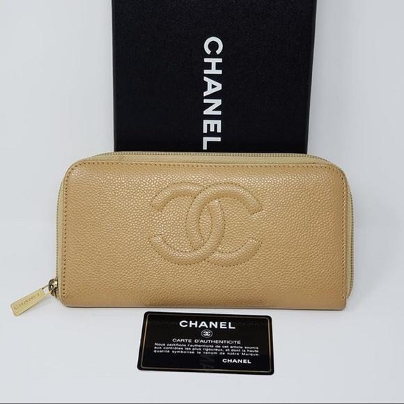 06d868a94293 Chanel Handbags - 100% Auth Chanel Zip Around Caviar Wallet Purse